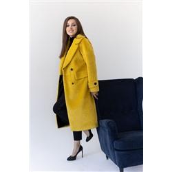 Пальто женское демисезонное 23777 (жёлтый+черный)
