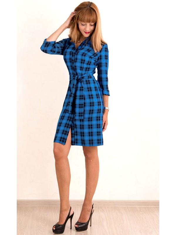 Купить На Валберис Платье Рубашка Синего Цвета