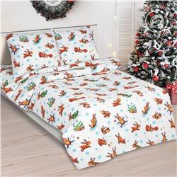 Комплект постельного белья из поплина Оленята